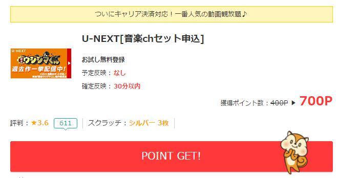 u-nextでポイントゲット