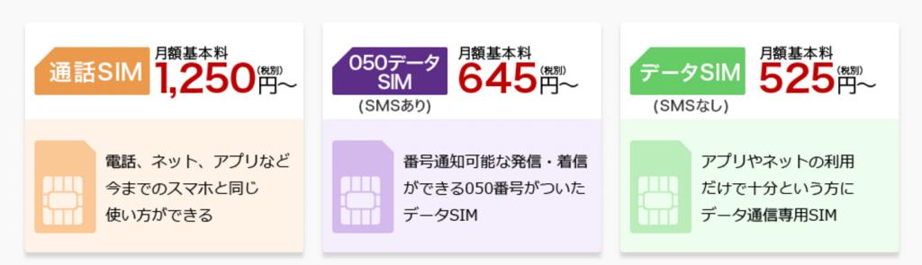 楽天モバイルの月額料金
